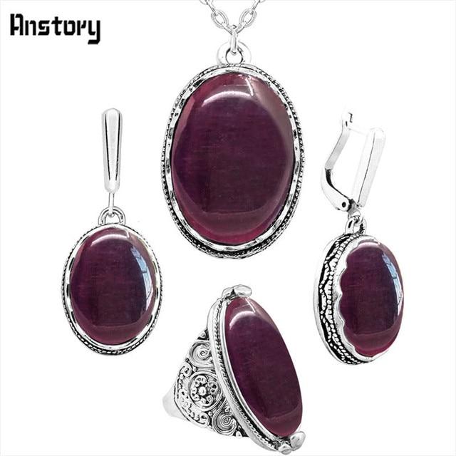 Oval Transparent Purple...