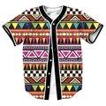 США размер Горячий Стиль Летний Топ Трикотажные Изделия Бейсбола Мужчины Женщины Мужская Забавный Дизайн Поп Цвет Полоса Рубашка