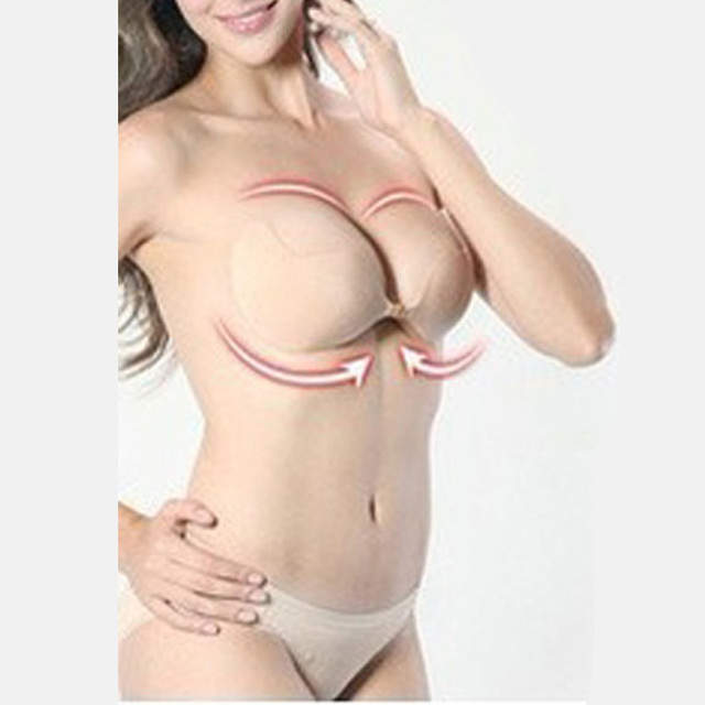 8aff353f03b30 2PCS Lady s Sexy Stealth Seamless Adhesive Bra Gel Push Up Bra Strapless Bra  Girls Backless Adhesive For Breasts Underwear Women