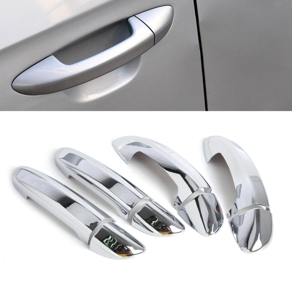 new chrome door handle cover trim for vw golf 6 mk6 skoda. Black Bedroom Furniture Sets. Home Design Ideas