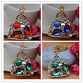 Crystal Handbag Keychain Rhinestone purse Bag Charm Pendant Key chain Key Ring Free Shipping YSK173