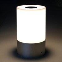 اللاسلكية rgb اللون تغيير الصمام الجدول مصباح اللمس سنسر تخفيت قابلة الذكية الجدول مصباح أضواء الليل #40-25
