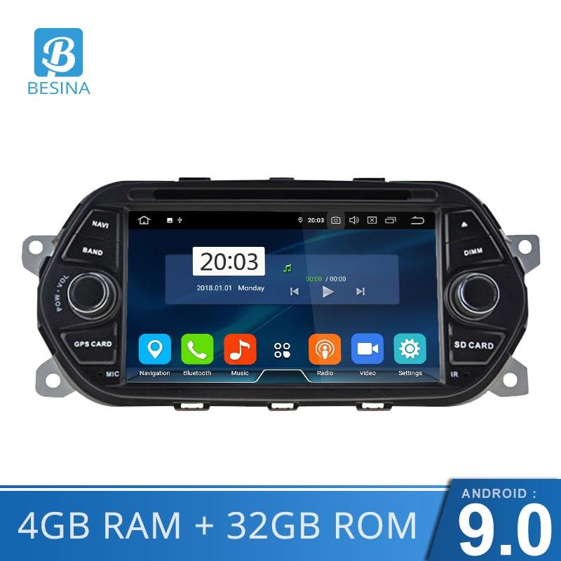 No Traço Android 9.0 Jogador Do Carro DVD Para Fiat Tipo Egea 2015 2016 2017 Auto Rádio RDS WiFi GPS Estéreo navegação Bluetooth 4GB de RAM
