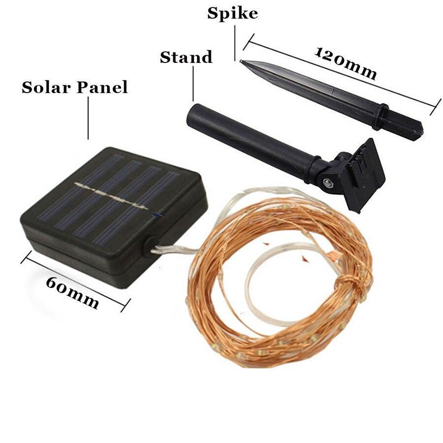 Hi-Lumix 20M 200leds Koppartråd Solar ledsträngslampa Vattentät - Festlig belysning - Foto 2