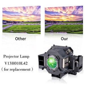 Image 3 - Hoge Helderheid Projector Lamp Met Behuizing V13H010L42 ELPLP42 Voor Epson EMP 822 EMP 822H EMP 83 EMP 83C EMP 83H EMP 83HE