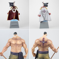 24 CM Anime One Piece DXF Edward Newgate Tombstone White Beard Emperors PVC Action Figures Collectible