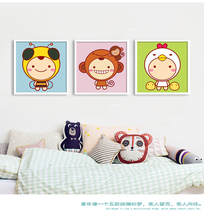 Kawaii Bee  Lion Animal Print Modern Nordic Cartoon Nursery Wall Art Picture Kids Baby Room Decor Canvas Painting No Frame