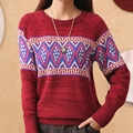 AliExpress new promotional loose sweater female Korean new winter round neck long-sleeved sweater bottoming