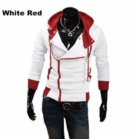 2013 New Free Shipping Fashion Mens Slim Fit Irregular Zip Up Hoodies Jackets Coats Multicolor Size