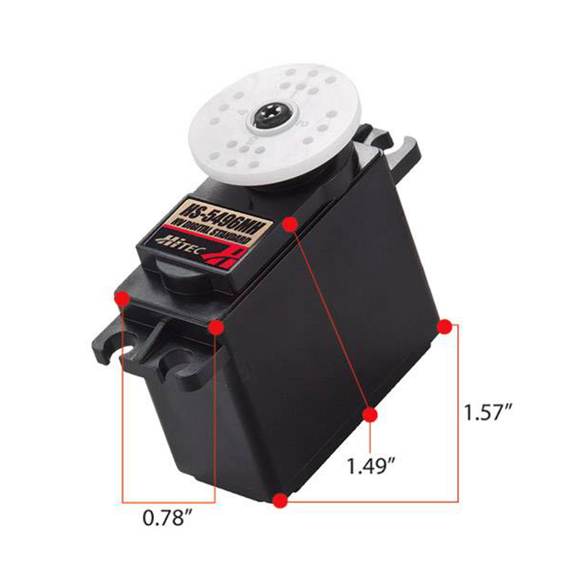 HiTec HS-5496MH HV, Standard, Metal Gear Digital Sport Servo 7.5KG/52g for RC airplanes hitec hs 7945th high voltage titanium gear coreless ultra premium servo 23kg 68g for rc hobby