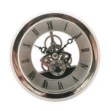 103mm Floating Anniversary Quartz Skeleton Insert Classic Clock Movement DIY Craft Round Clocks Head Roman Number Mayitr