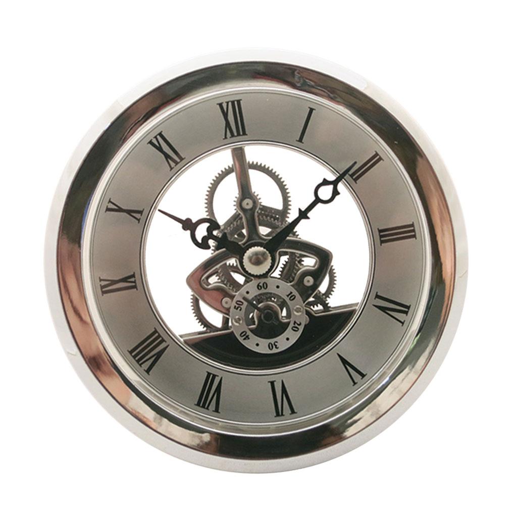 Flutuante Aniversário Quartzo Esqueleto Inserção Clássico Movimento Relógio Faça Você Mesmo Artesanato Relógios Redondos Cabeça Número Romano Mayitr 103mm