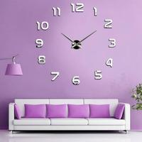 Wall Sticker Large Numbers Clock Acrylic DIY 3D Mirror Home Decor Art Modern