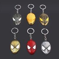 Wholesale 20pcs Marvel Spiderman Keychain Avengers 4 Super Hero Spider Man Metal Key chain for Men Car Keyring Jewelry