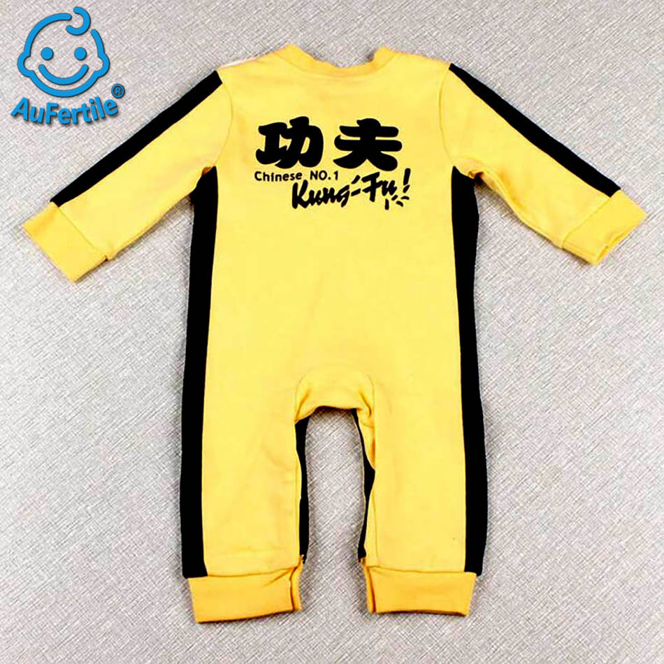 China Effort Baby Rompers Bruce Lee Jumpsuit Outwear Chinese