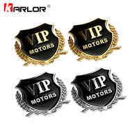 2 teile/satz VIP MOTOREN 3D Metall Auto Chrom Emblem Abzeichen Aufkleber Tür Fenster Körper Auto Decor DIY Aufkleber Auto Styling zubehör