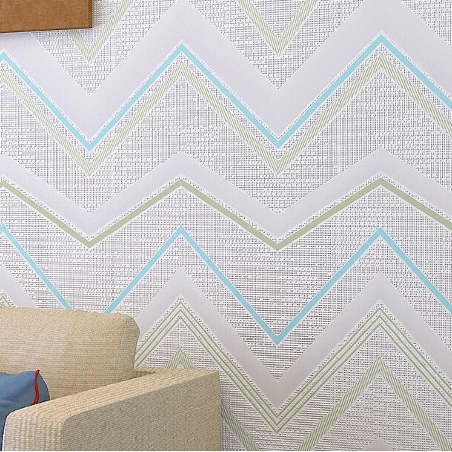 ФОТО beibehang Mediterranean curve pinstripe Wallpaper For Wall Roll Papel De Parede Infantil wall Paper papier peint 3d panel behang