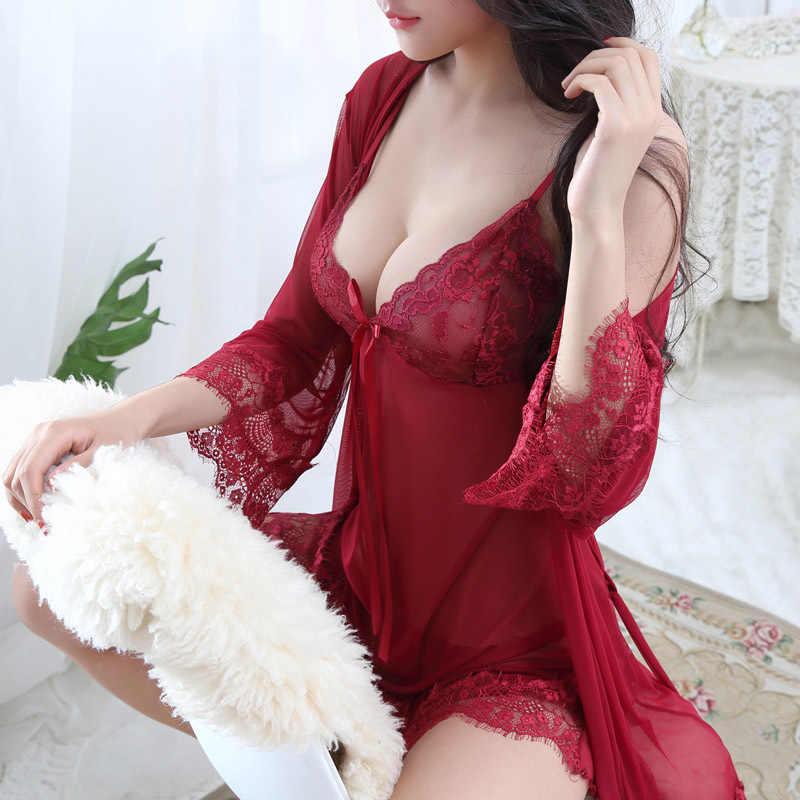 9b0137fe862 ... HOT Plus Size Sexy Lingerie Baby Doll Chemises For Women Underwear  Ladies Lace Transparent Erotic Lingerie ...