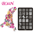 Envío Gratis 1 unid BQAN Irregular Línea Imágenes Nail Art Stamping Stamping Esmalte de Uñas CK09