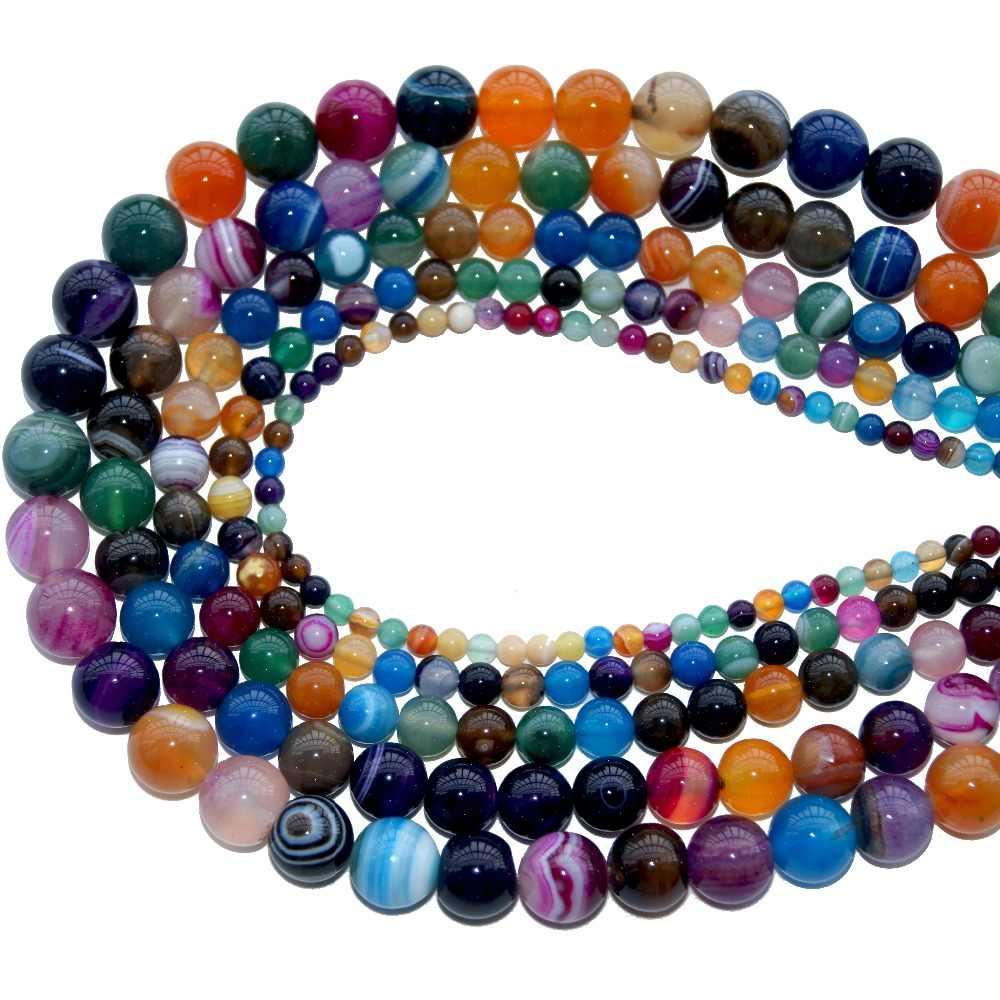 4 6 8 10 MM מעורב טבעי אבן Agates אבני טורקיז Loose אבן חרוזים Loose אבן חרוזים DIY ביצוע צמיד שרשרת תכשיטים