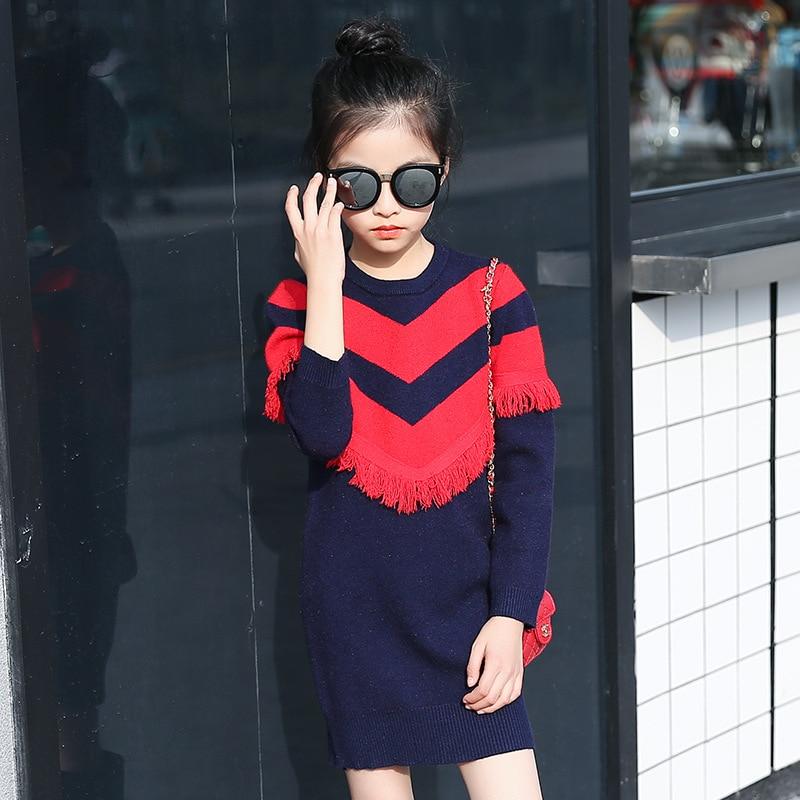 52774f02 Aliexpress.com : Buy Girls Sweaters Knit Tassel Sweater Dresses Kids Girls  Knitting Fashion Jumper Dress Kid Verkleed Kostuum Meisjes Clothes YL468  from ...