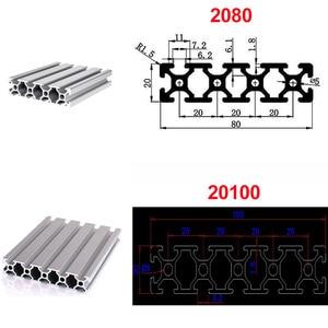 Image 4 - 1pc 2020 2040 2080 201000 3030 4040 t slot profil aluminiowy wytłaczanie 600mm 650mm 700mm 750mm 800mm dla DIY drukarka 3D CNC