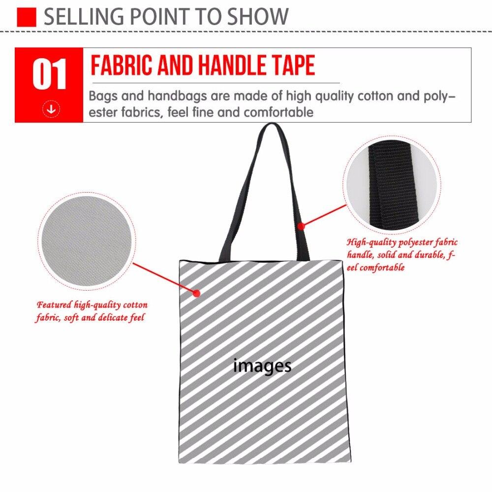 INSTANTARTS Cool Colorful Animal Tiger Print Women Linen Tote Bags Brand Design Female Shoulder Bags for Shopping Vogue Handbags