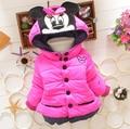 Para baixo Parkas crianças outerwear inverno 0 - 6 ages snowsuit roupas de natal Jacket coats minnie mouse quente engrossar roupa dos miúdos