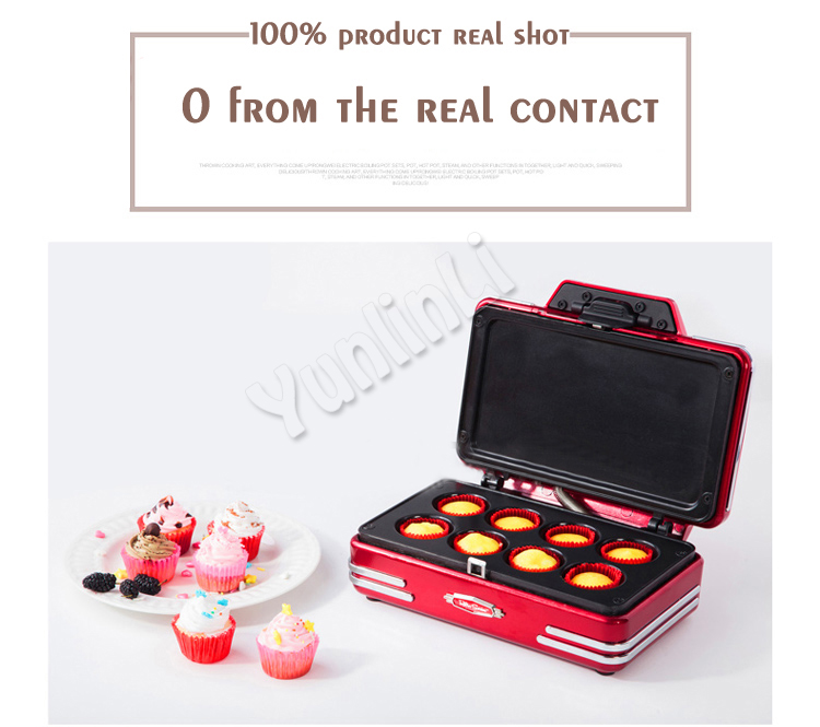 Electric Cupcake Makers 750W Mini Cake Baking Machine Cup Cake Maker Cupcake Making Machine RCKM700 hq ss10 cake making and decorating turntable baking tool rotating table of cake show display stand