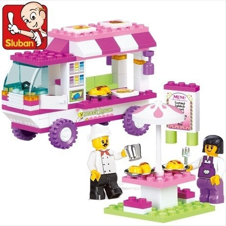 Snack Car city Building Blocks 102pcs Particles Bricks Education DIY Toys for children Christmas Gifts Best Kids Xmas Gifts