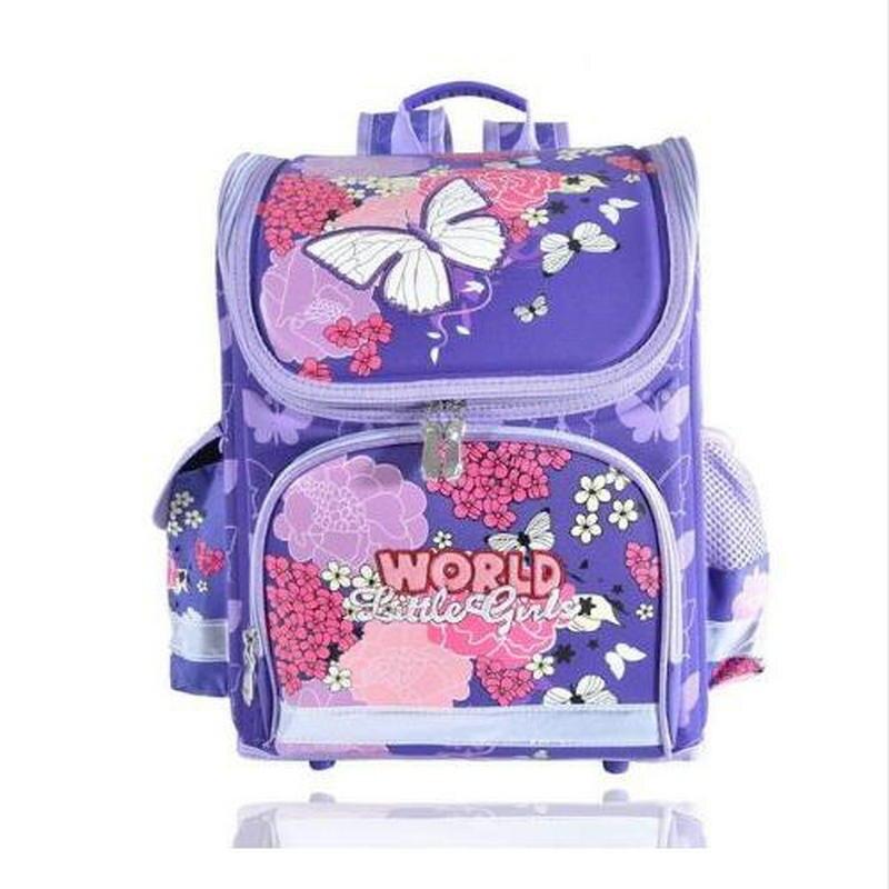 hot Kids butterfly Schoolbag Backpack EVA Folded Orthopedic Children School Bags For Boys and girls Mochila