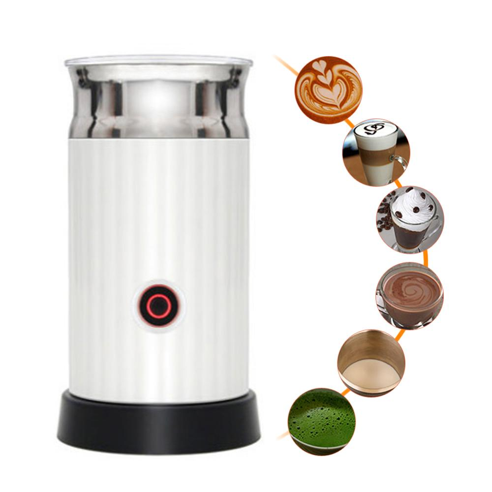 Automatic Milk Frother Coffee Foamer Container Soft Foam Cappuccino Maker Electric Coffee Frother Milk Foamer Maker