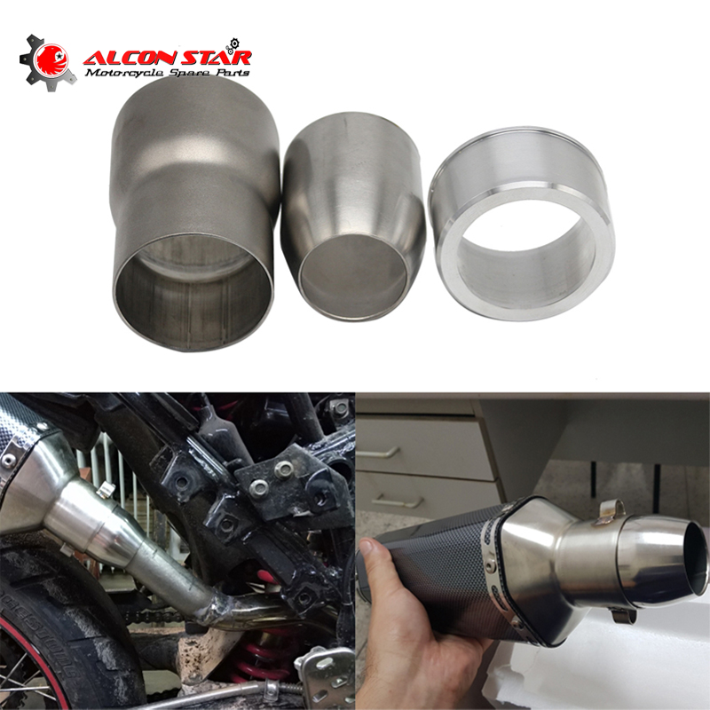 Alconstar- Motorcycle Exhaust Mild Steel Convertor Adapter Reducer Connector Pipe Tube 60mm To 51mm,51mm To 38mm Adapter Racing