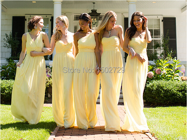 Aliexpress.com : Buy Spring 2017 Light Yellow Junior Bridesmaid ...
