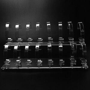 Image 4 - 1 סט חם אופנה ברור 2 tier להסרה שעון יד צמיד 16 תצוגת Rack Stand מחזיק תכשיטי תצוגה