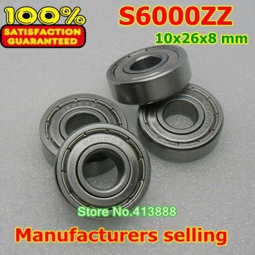 10 шт./лот высокого качества ABEC-1 Z2V1 SUS440C из нержавеющей стали Глубокие шаровые подшипники S6000ZZ 10*26*8 мм