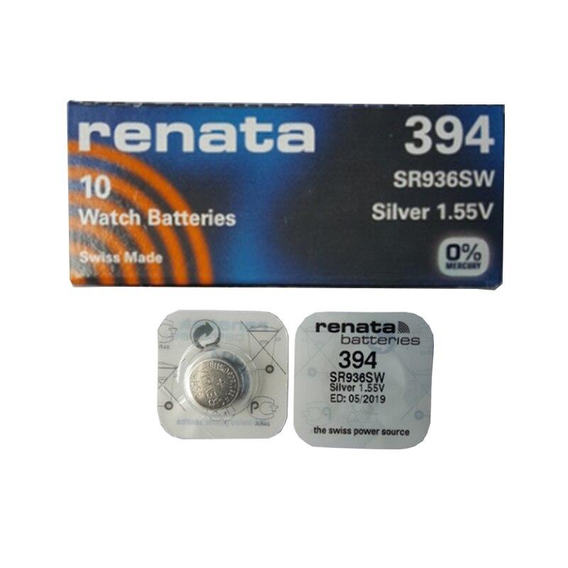 5Pcs/lot Renata <font><b>394</b></font> SR936SW AG9 Button Cell <font><b>Battery</b></font> <font><b>Watch</b></font> Clock Repair Tools <font><b>Batteries</b></font>
