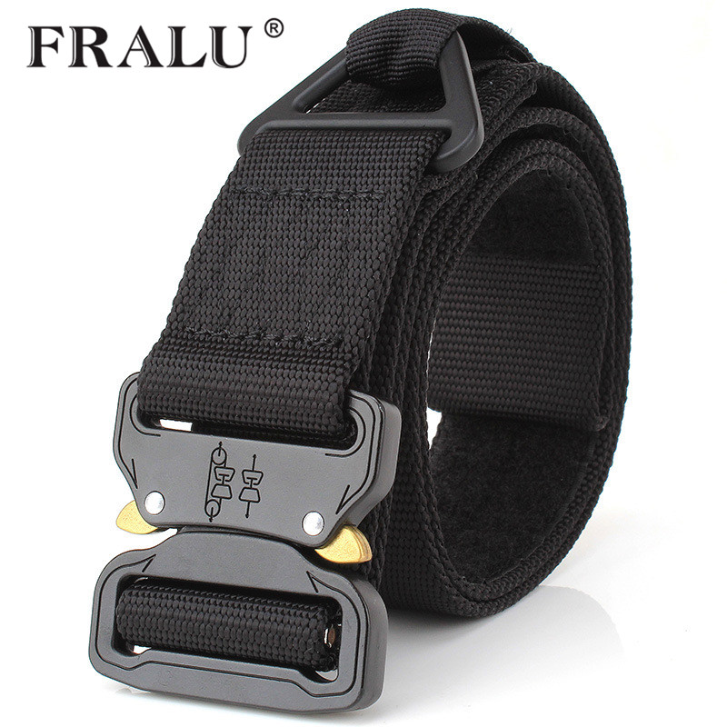 Apparel Accessories Brandcombat Military Equipment Tactical Belt Men 1000d Nylon Metal Buckle Knock Off Belts Army Soldier Carry Waist Belt