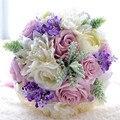 Новое Прибытие Волшебный Красочный Красивый Красочный Люкс Для Невесты Цветок свадебный букет искусственный цветок розы свадебные букеты