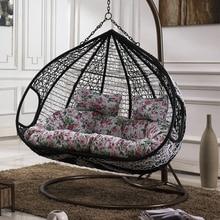 Hanging basket chair wicker swing cradle rocking indoor outdoor balcony Single Double rattan loungers