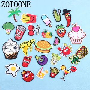 ZOTOONE 1pc Optional Food Fruit Patches Clothing Iron Embroidered Patch Applique Iron on Patch Sewing Accessories Badge Clothes