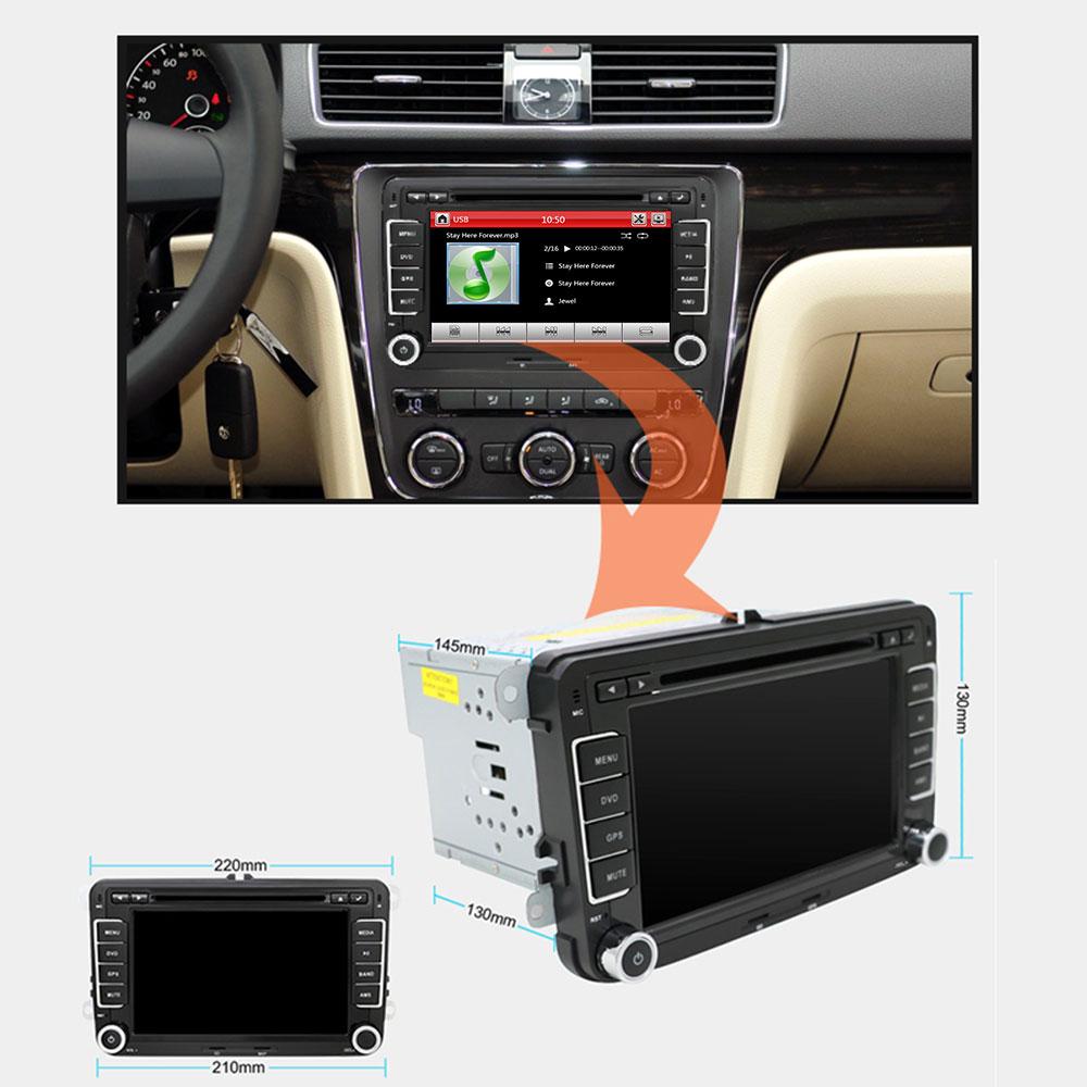 Eunavi 2 Din 7 ''lecteur DVD de voiture Radio GPS Navi pour VW Golf Polo Jetta Touran Mk5 Mk6 Passat B6 2din stéréo tablette pc dans dash usb - 2