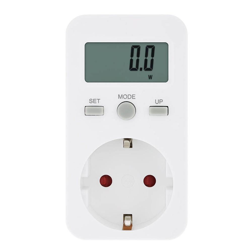 Digital Electric Power Meters : Plug in digital wattmeter lcd energy monitor power meter