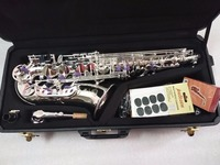 French Alto Saxophone Drop E 803 Instrument Super Play Instrument Silver Plated Material with Case and Accessories Free Shipping