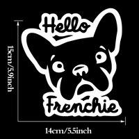 Toptan 30 adet/grup Hello Frenchie Pet Köpek Araba Çıkartmaları Yavru Köpek Aşk Oto Çıkartmaları Vinil Yapışkan