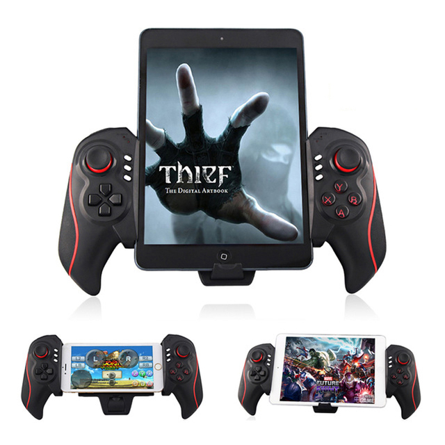 f4e46d4a945 Wireless Gamepad Bluetooth Telescopic Game Gaming Controller Gamepads  Joystick For Pad Iphone/ipad/Pod PC Android IOS Tablet PC