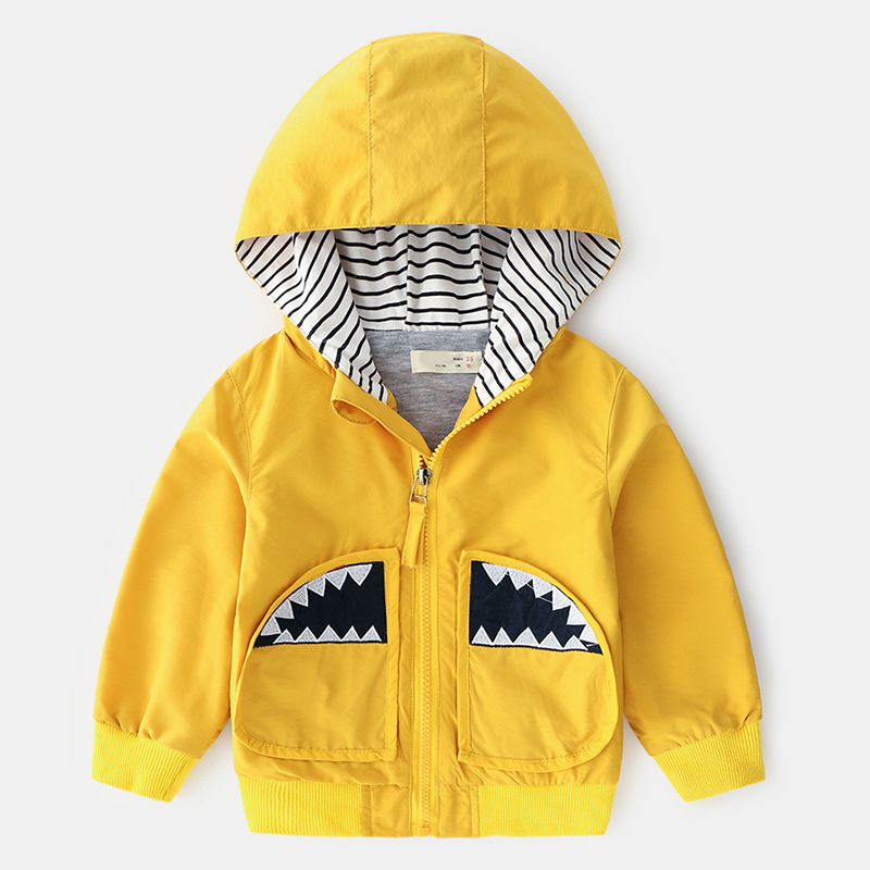 2019 New Spring Autumn Boys Cartoon jacket zipper Baby Cotton Hooded Coat Children Clothing Kids Hoodie Outerwear Clothes 2-7y