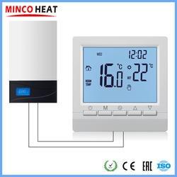 Программируемый газовый котел регулятор температуры нагрева ручное управление беспроводной AA батарея термостат с замком для детей