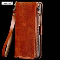 Factories Customize Multi Function Genuine Cowhide Leather Case For Xiaomi Mi 6 Mi6 M6 Wallet