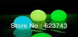 Kolorowe LED z płaskim piłkę  akumulator LED świecące oświetlony LED  LED basen lampa zdalnie sterowana przez EMS|Oświetlenie nocne LED|Lampy i oświetlenie -